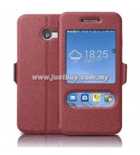 Asus Zenfone 4 Window View Flip Cover - Red